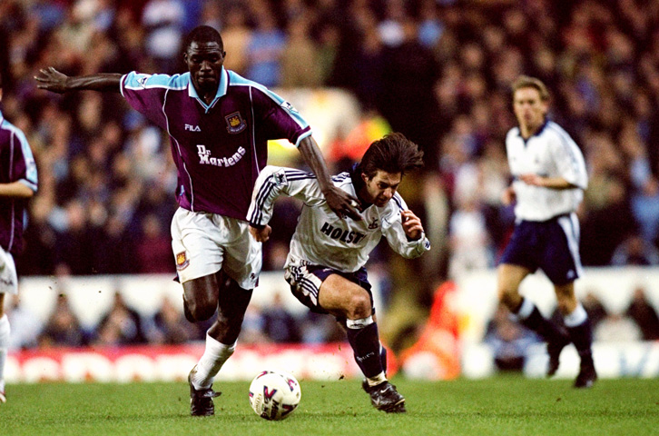 Marc-Vivien Foe played 48 times for West Ham United between January 1999 and May 2000