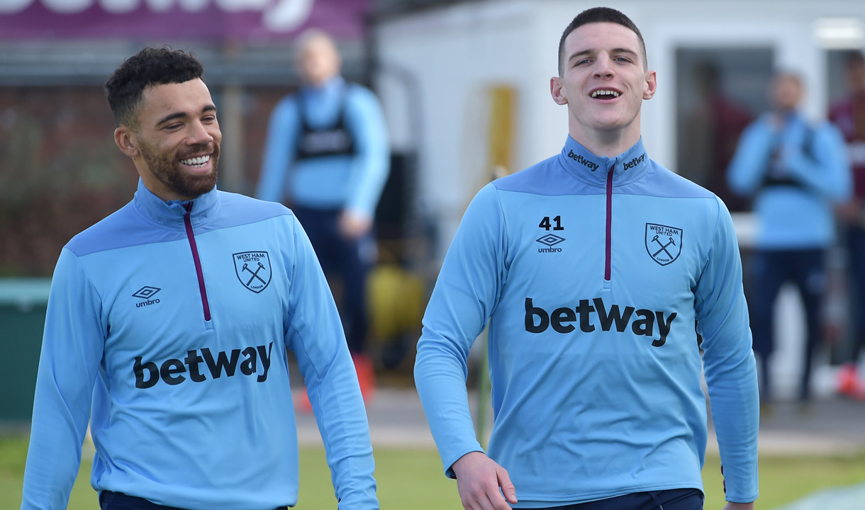 Ryan Fredericks and Declan Rice