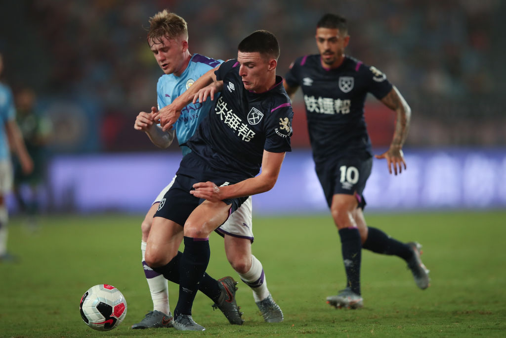 Declan Rice in action in Nanjing
