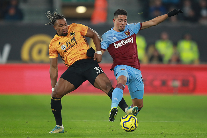 Pablo Fornals tussles with Adama Traore