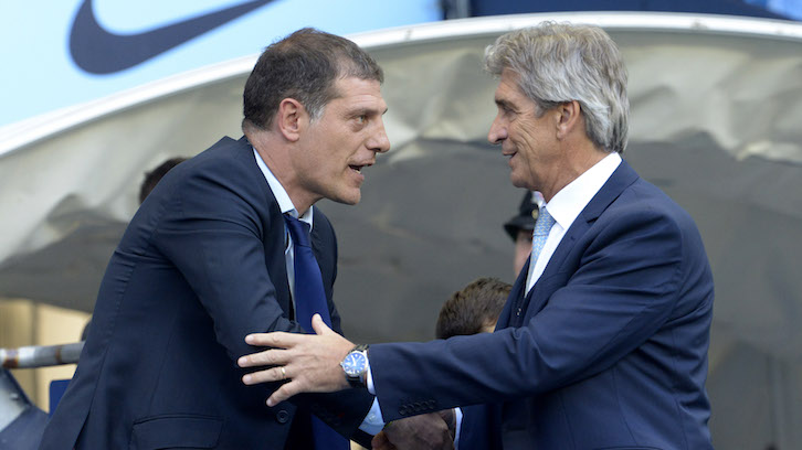 Bilic with Pellegrini ahead of the match