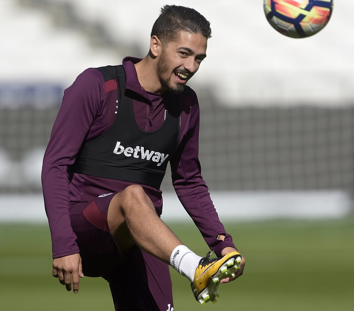 Manuel Lanzini has been working hard on his fitness during the international break