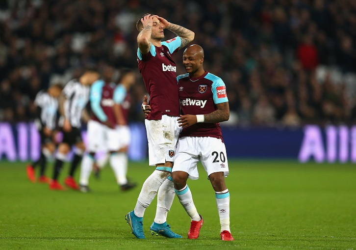 Andre Ayew and Marko Arnautovic