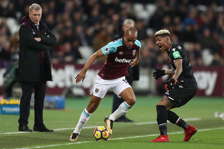 Manager David Moyes watches Joao Mario in action against Crystal Palace