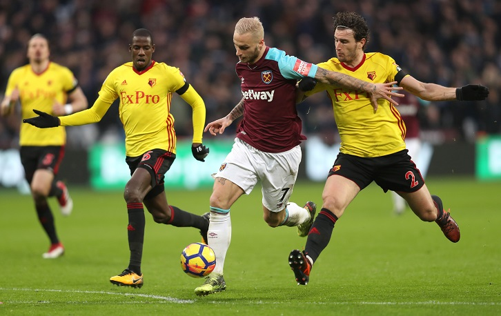 Marko Arnautovic in action against Watford