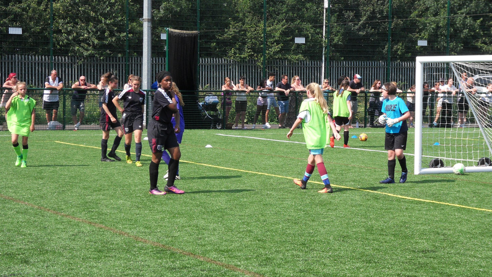 The West Ham girls' trials attracted record numbers