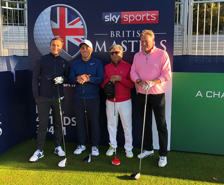 Mark Noble and Francesco Molinari took part in the Sky Sports British Masters Pro-Am