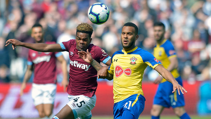 Grady Diangana gave Southampton's Ryan Bertrand a stern test on Saturday