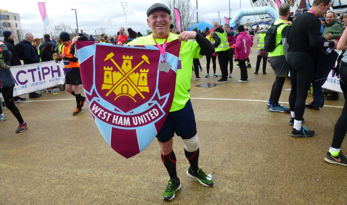 Richard ran the half marathon to raise money for Any Old Irons