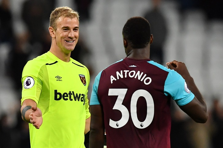 Joe Hart kept his first clean sheet for West Ham United on Monday