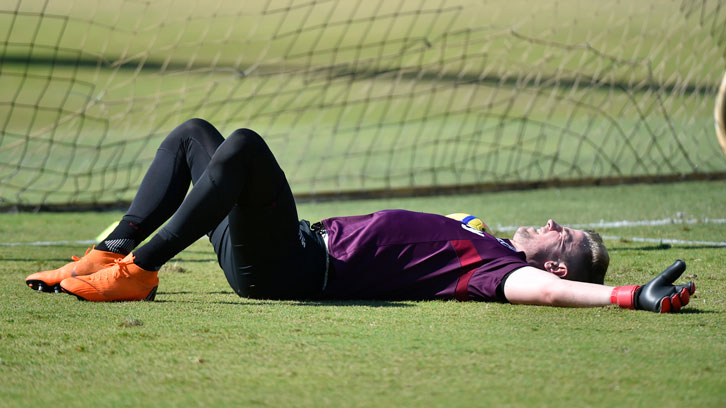 Joe Hart has been working hard at the Hammers' training camp in Miami this week