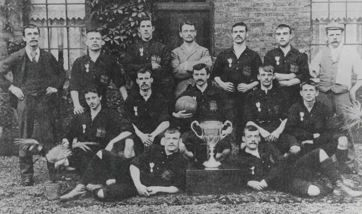 Thames Ironworks FC in 1896
