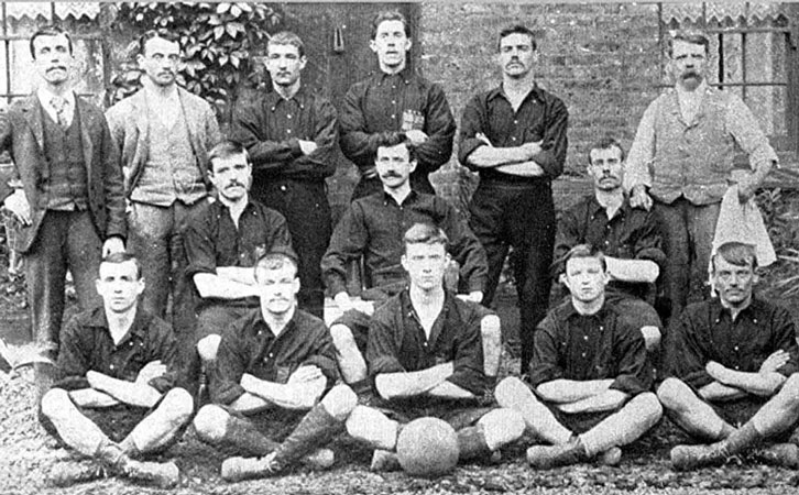 Thames Ironworks FC in 1895