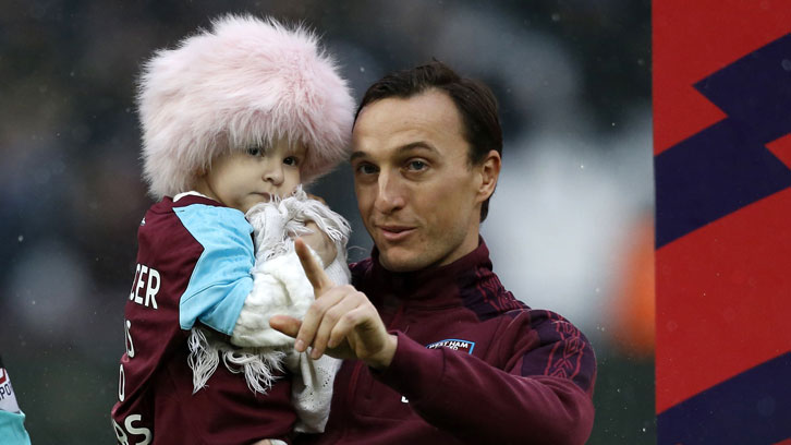 Mark Noble with Isla Caton