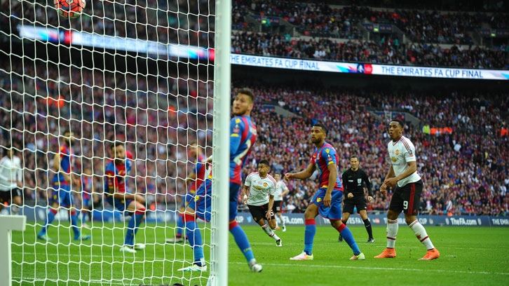 Jesse Lingard scores the winner in the 2016 FA Cup final