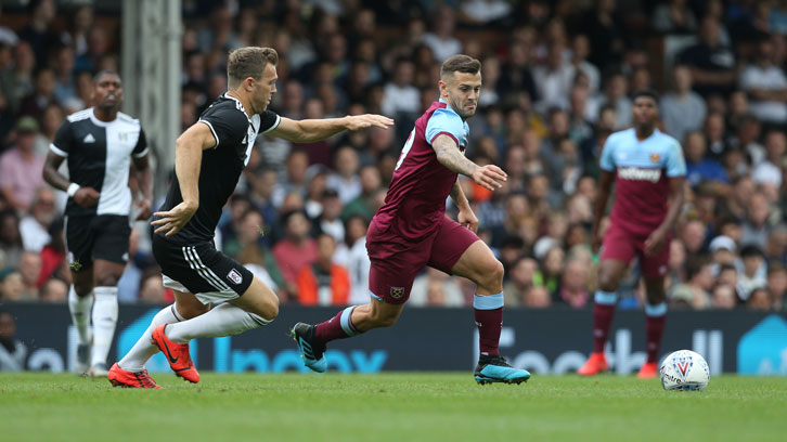 Jack Wilshere in action against Fulham in pre-season