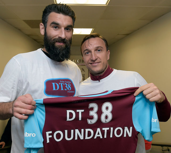 Mile Jedinak (left) has been a staunch supporter of DT38 Foundation