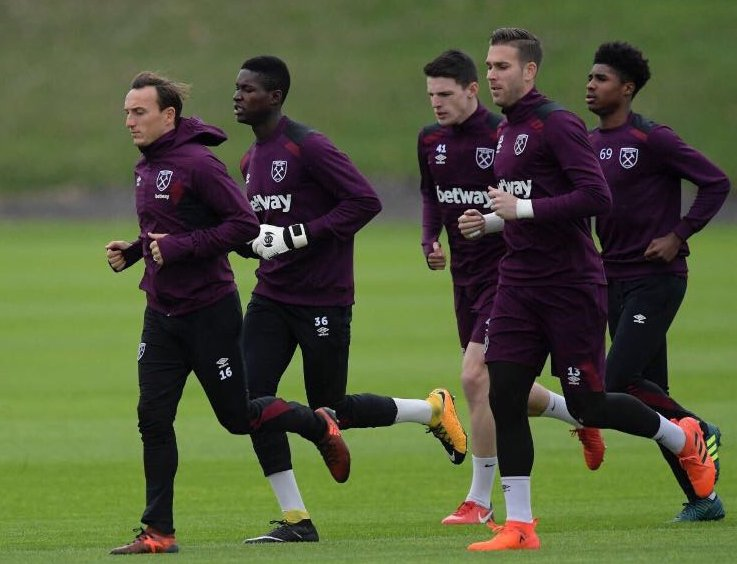 Joseph Anang training with first team