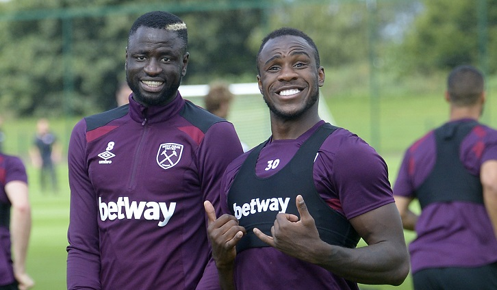 Cheikhou Kouyate and Michail Antonio are in first-team training