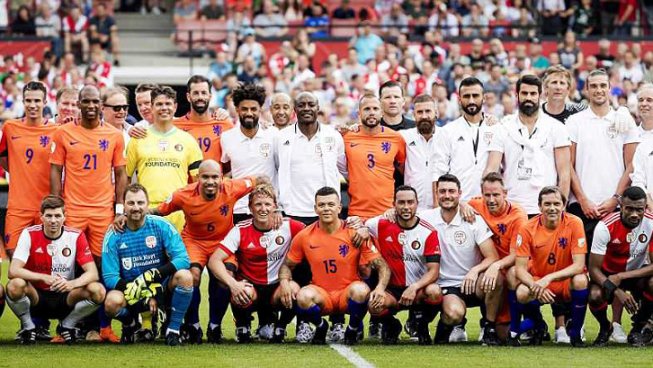 Andy Carroll played in the Dirk Kuyt Testimonial