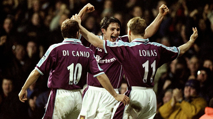 Frank Lampard Junior celebrates one of his 38 goals in Claret and Blue
