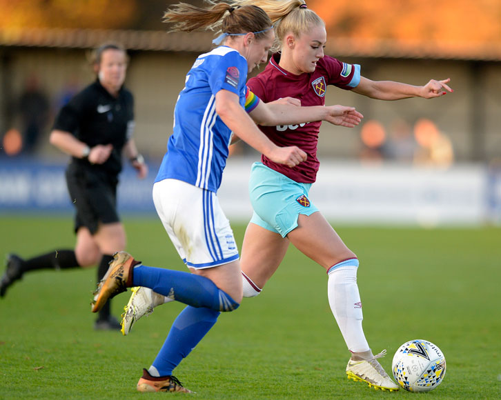 Alisha Lehmann in action against Birmingham City