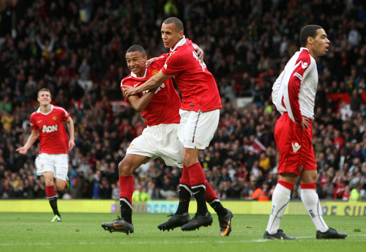 Jesse Lingard in FA Youth Cup final action in 2011