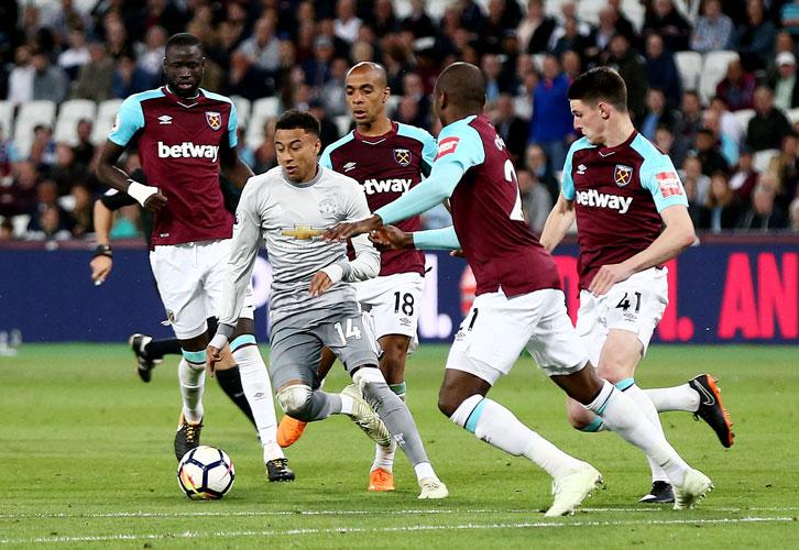 Jesse Lingard in action against West Ham