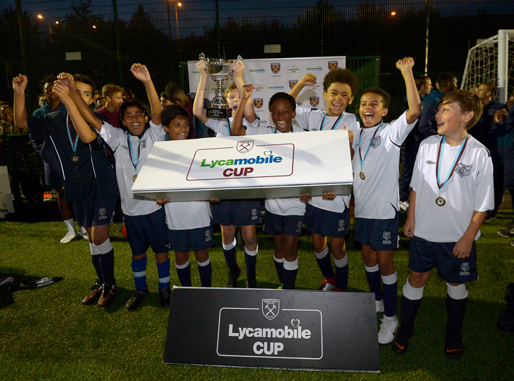 Brampton Academy celebrate their victory in the U12 category