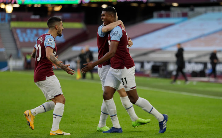 Manuel Lanzini assisted Ben Johnson's first goal for West Ham United
