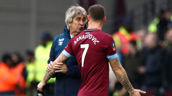 Manuel Pellegrini played down any potential issue with Marko Arnautovic