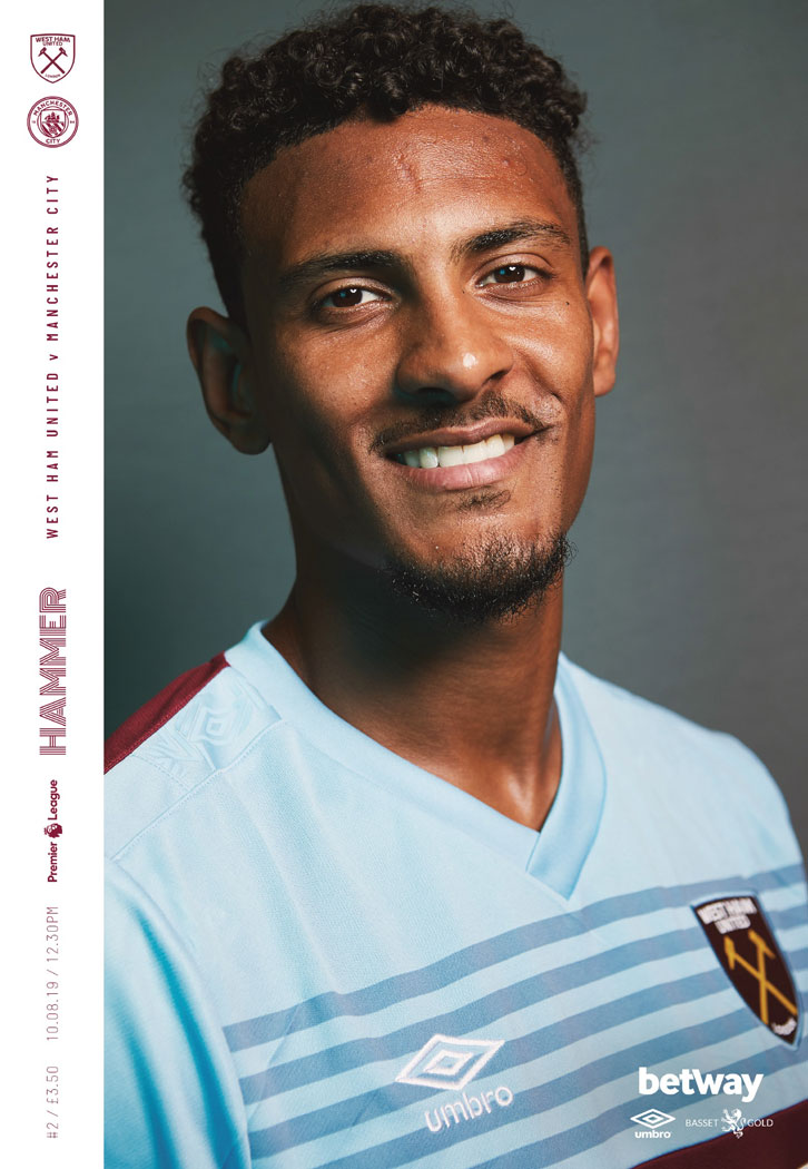 WHU v Man City programme cover