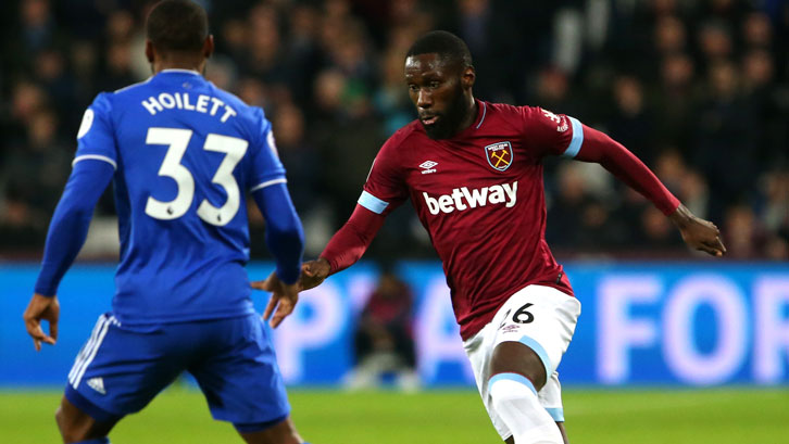 Arthur Masuaku in action against Cardiff City