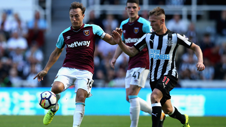 The Hammers were beaten in Newcastle