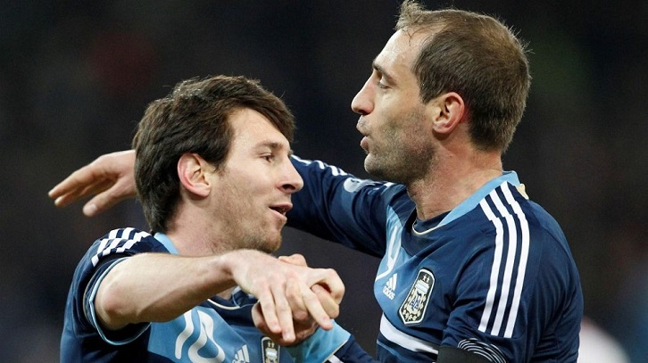 Lionel Messi and Pablo Zabaleta