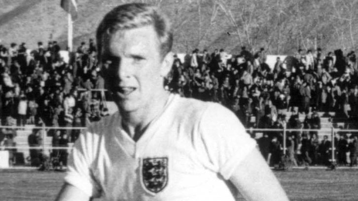 Bobby Moore in action at the 1962 FIFA World Cup finals in Chile