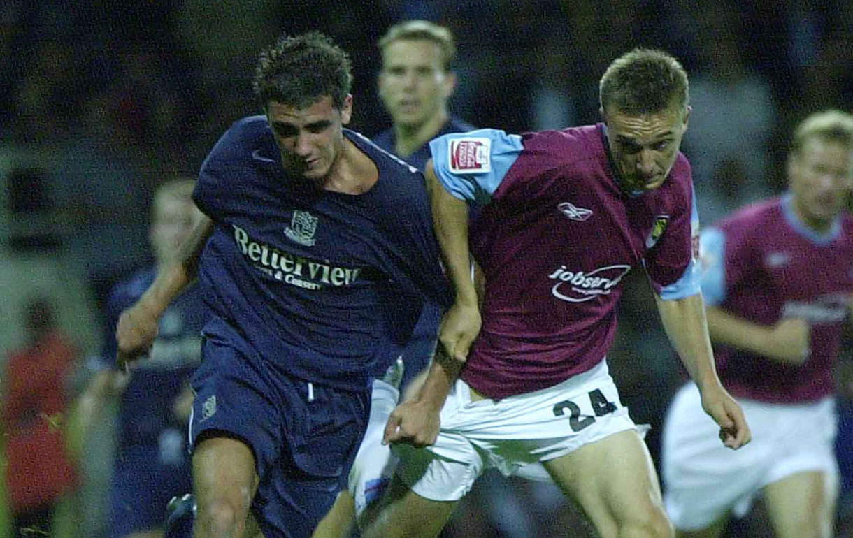Mark Noble made the first of his 500 senior appearances against Southend United in August 2004