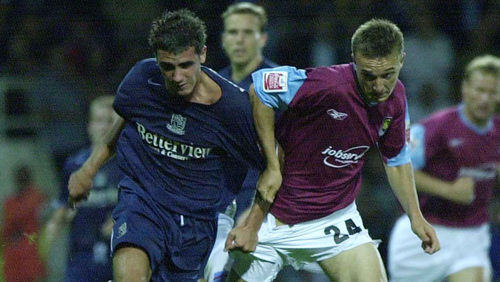 Mark Noble in action against Southend United on his debut
