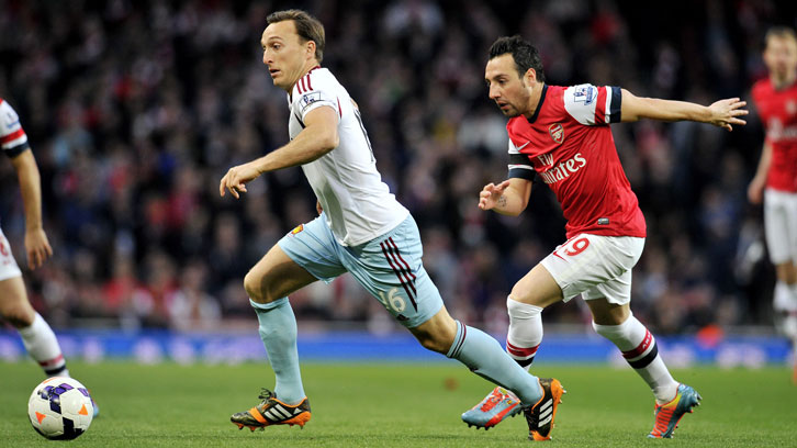 Mark Noble has faced Arsenal 19 times as a West Ham United player