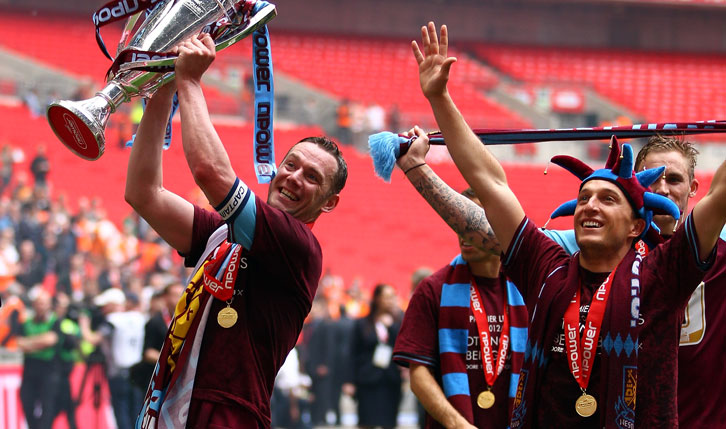 Kevin Nolan and Mark Noble at Wembley in 2012