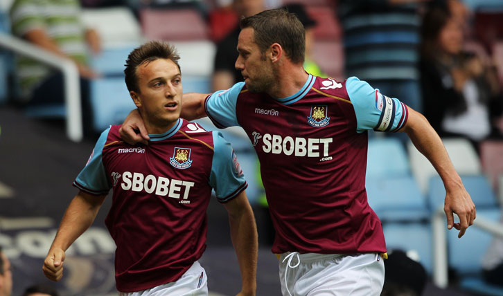 Mark Noble and Kevin Nolan were West Ham United teammates on 133 occasions