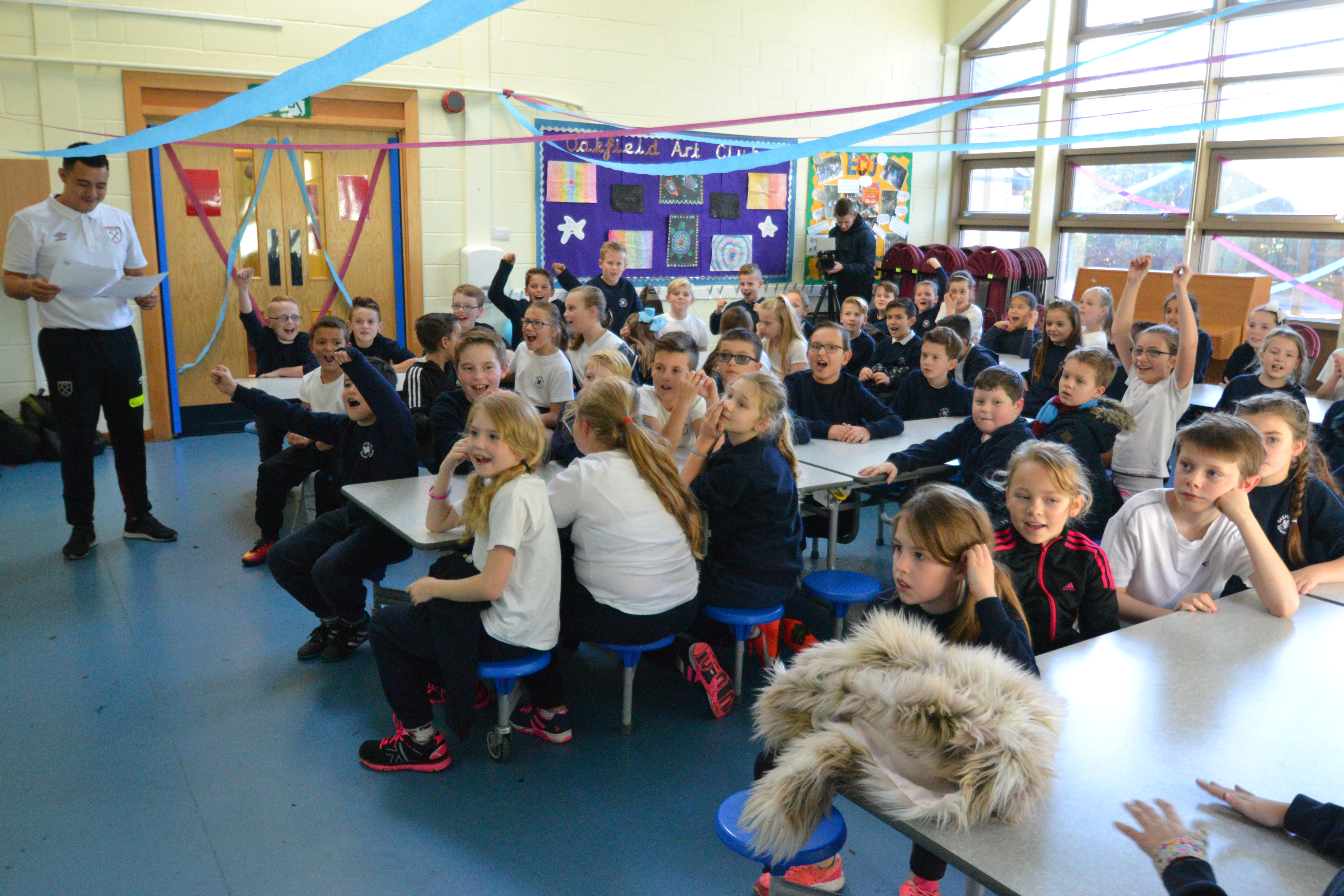 Classroom Decorations For Primary School ~ School children meet academy stars at hammers day west