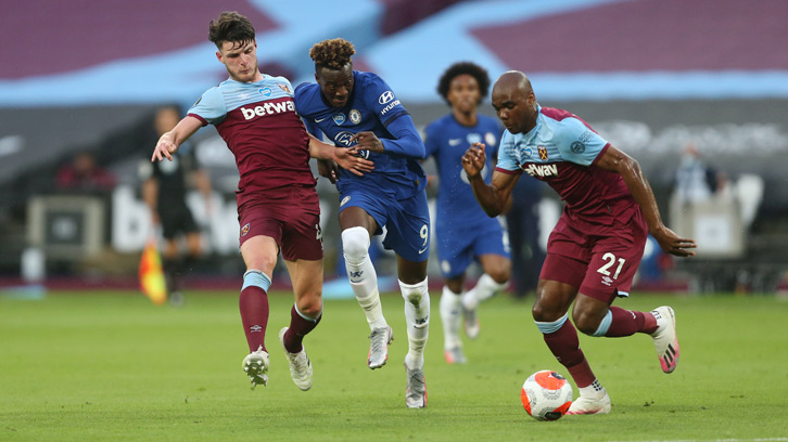 Angelo Ogbonna in action for West Ham against Chelsea