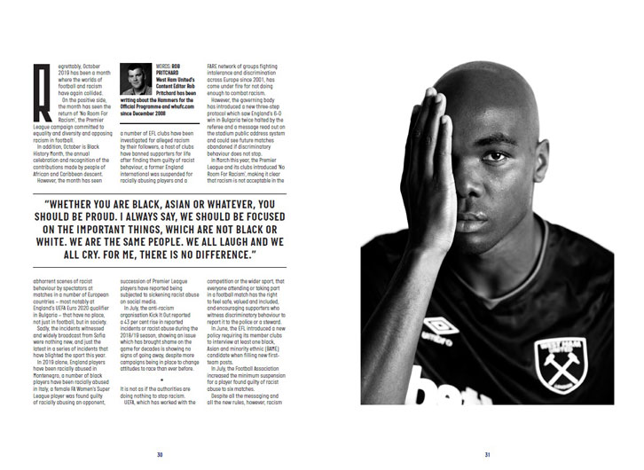 Sheffield United programme feature