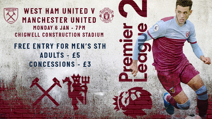 Buy tickets to West Ham United U23s against Manchester United U23s