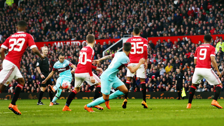 Dimitri Payet's free-kick at Old Trafford in 2016