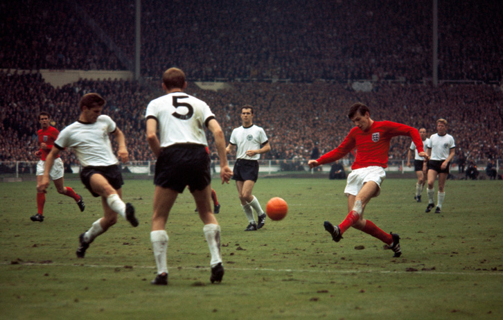 Martin Peters in the 1966 World Cup final