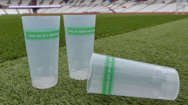 Reusable beer cups have been introduced at London Stadium
