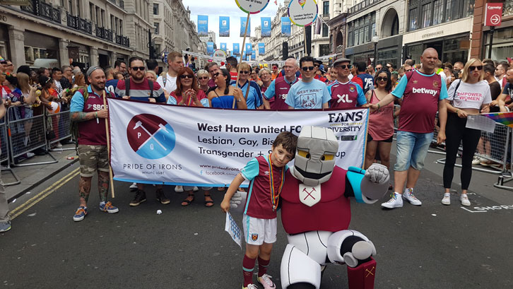 The Club has worked closely with Pride of Irons since the group's formation in 2015