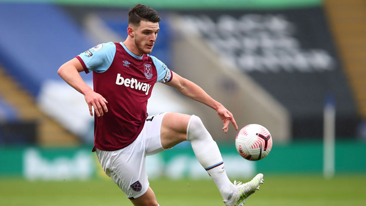 Declan Rice in action